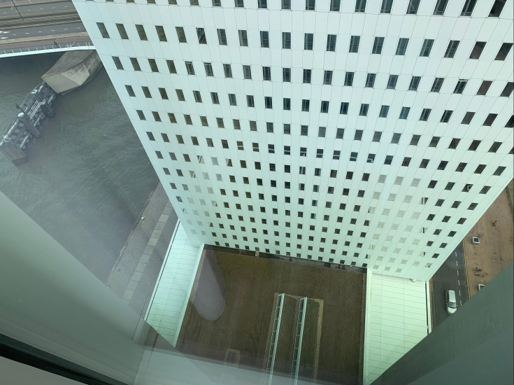 Don't look down! 22 floors up at nHow Rotterdam