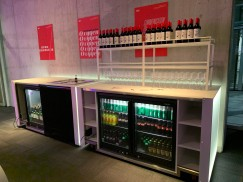 The self service bar they set up for us. We ran our of beer half way through the night but could always go up to the main bar on floor 7 where we had a company tab open each evening.